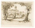 Prints:American, ANTON SCHUTZ (German/American, 1894-1977). City Hall 1810. Etching, #21. 9in. x 12in.. Signed at lower right A. Schutz... (Total: 1 Item)