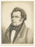 Prints:European Modern, GERMAN SCHOOL. Portrait of a Gentleman. Etching. 12-3/4in. x 9-1/2in.. Signed illegibly at lower right. ... (Total: 1 Item)