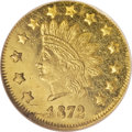 California Fractional Gold, 1872 $1 Indian Round 1 Dollar, BG-1207, R.4, MS65 Deep ProoflikeNGC....