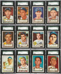 Baseball Cards:Sets, 1952 Topps Baseball Partial Set (156) - All Middle and High-NumberSeries. ...