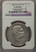 Coins of Hawaii: , 1883 $1 Hawaii Dollar--Mount Removed--NGC Details. VF. NGC Census:(2/280). PCGS Population (1/548). Mintage: 500,000. (#1...