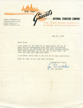Baseball Collectibles:Others, 1950 Leo Durocher Signed Letter....