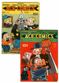 Golden Age (1938-1955):Miscellaneous, Ace Comics #18 and 20 Group (David McKay Publications, 1938).... (Total: 2 Comic Books)