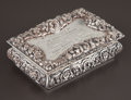 Silver Holloware, British:Holloware, A VICTORIAN SILVER AND SILVER GILT BOX . Nathaniel Mills,Birmingham, England, circa 1841-1842. Marks: (lion passant),(anch...
