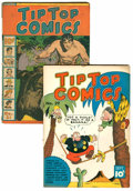 Platinum Age (1897-1937):Miscellaneous, Tip Top Comics #21 and 29 Group (United FeaturesSyndicate/Standard, 1938).... (Total: 2 Comic Books)