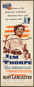 "Movie Posters:Sports, Jim Thorpe - All American (Warner Brothers, 1951). Insert (14"" X 36""). Sports.. ..."