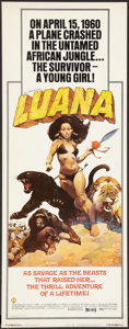 "Movie Posters:Adventure, Luana (Capital Productions, 1973). Insert (14"" X 36""). Adventure....."