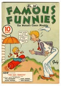 Golden Age (1938-1955):Miscellaneous, Famous Funnies #36 Lost Valley pedigree (Eastern Color, 1937) Condition: VG/FN....