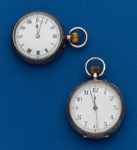 Two - Swiss, Sterling Pendant Watches