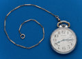 Timepieces:Pocket (post 1900), Waltham, 17 Jewel, 16 Size, Locomotive Case. ...