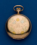 Timepieces:Pocket (post 1900), Waltham, 6 Size, Gold filled, Multi-Color Hunters Case. ...