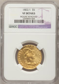 Early Half Eagles, 1802/1 $5 --Mount Removed--NGC Details. VF. Breen-6440, BD-2, HighR.4....