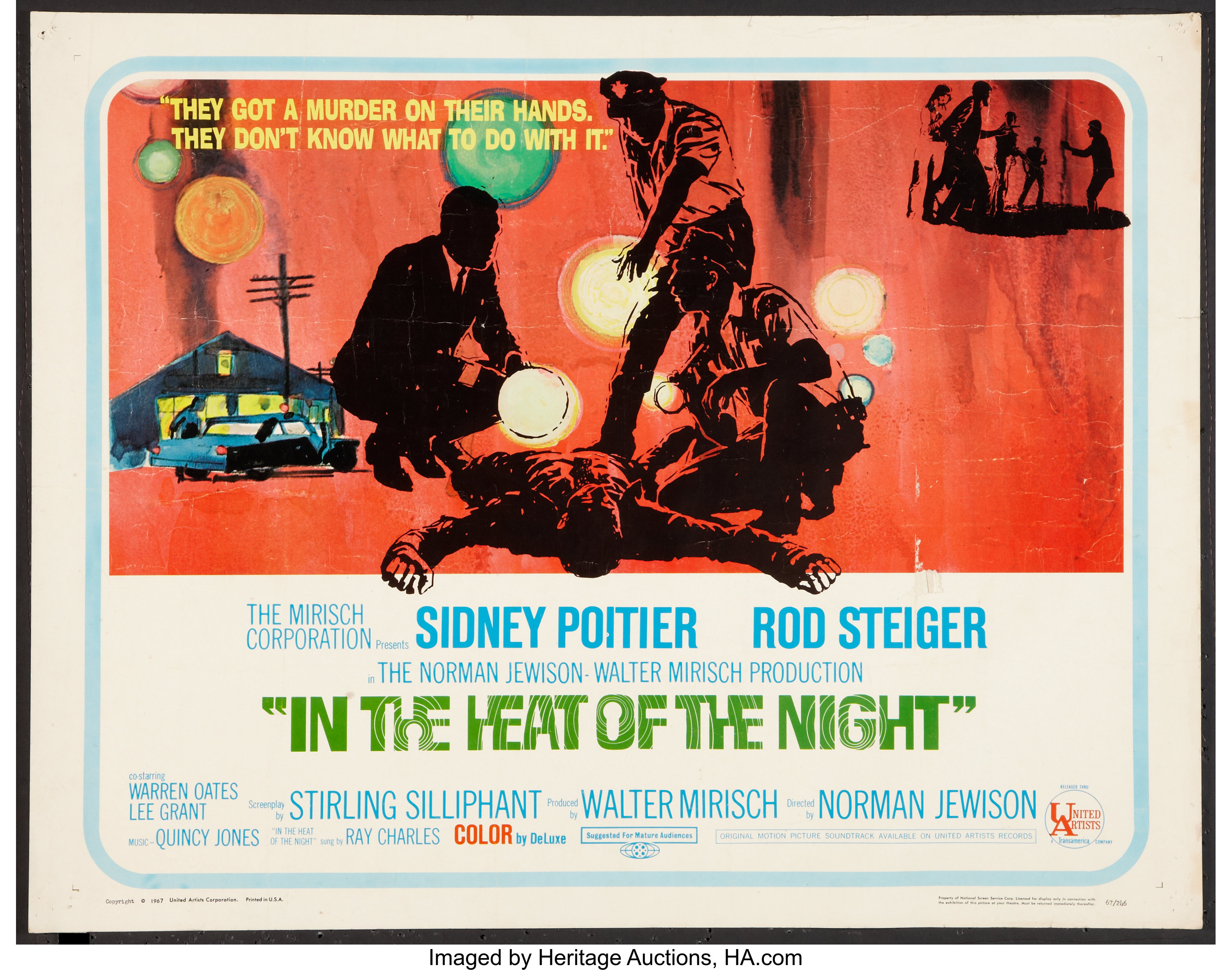 In the Heat of the Night Lot (United Artists, 1967). Half Sheets | Lot  #55201 | Heritage Auctions