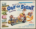 "Movie Posters:Rock and Roll, Out of Sight (Universal, 1966). Half Sheet (22"" X 28""). Rock andRoll.. ..."