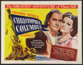 "Movie Posters:Adventure, Christopher Columbus (Universal, 1949). Half Sheet (22"" X 28"")Style A. Adventure.. ..."