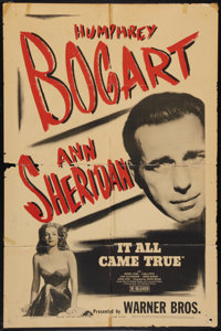 """It All Came True (Warner Brothers, R-1944). One Sheet (27"""" X 41""""). Crime"""