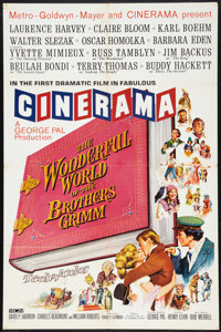 "The Wonderful World of the Brothers Grimm (MGM, 1962). Cinerama One Sheet (26.75"" X 41""). Fantasy"