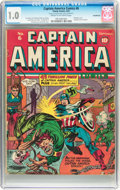 Golden Age (1938-1955):Superhero, Captain America Comics #6 Incomplete (Timely, 1941) CGC FR 1.0Cream to off-white pages....