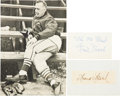 Baseball Collectibles:Others, Frank Frisch Signed Memorabilia Lot of 2....