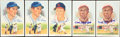 Baseball Collectibles:Others, Perez-Steele Signed Postcards Lot of 5....