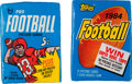 Football Cards:Boxes & Cases, 1968 Topps & 1984 Topps Football Wax Pack Pair (2). ...
