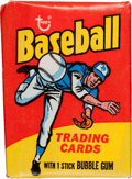 Baseball Cards:Other, 1975 Topps Baseball Mini Wax Pack. ...