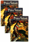 Silver Age (1956-1969):Adventure, Four Color #699 Prince Valiant - Multiple Copies, Circle 8 Pedigreed Group (Dell, 1956) Condition: Average VF.... (Total: 5 Comic Books)