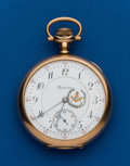 Timepieces:Pocket (post 1900), Hamilton, 17 Jewel, 16 Size, Open Face, Serial #742176. ...