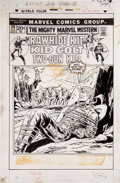 Original Comic Art:Covers, Dick Ayers The Mighty Marvel Western #20 Cover Original Art(Marvel, 1972)....