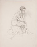 Original Comic Art:Sketches, Edgar Church Female Figure Drawing Original Art (undated)....