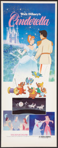 "Movie Posters:Animated, Cinderella (Buena Vista, R-1981). Insert (14"" X 36""). Animated....."