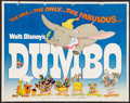 "Movie Posters:Animated, Dumbo (Buena Vista, R-1950s & R-1972). Half Sheets (2) (22"" X 28""). Animated.. ... (Total: 2 Items)"