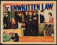 "The Unwritten Law (Majestic, 1932). Half Sheet (22"" X 28""). Mystery"