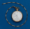 Timepieces:Pocket (post 1900), Hamilton, 12 Size With Chain, Grade 910, 17 Jewel. ...
