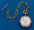 Timepieces:Pocket (post 1900), Elgin, 16 Size, 11 Jewel, Gold Filled Open Face With Chain. ...