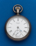 Timepieces:Pocket (post 1900), Waltham, 15 Jewel, Coin Silver, 18 Size Pocket Watch. ...