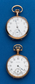 Timepieces:Pocket (post 1900), Two - 3/0 Size Gold Filled Open Face Watches. ... (Total: 2 Items)