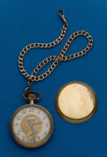 Timepieces:Pocket (post 1900), Elgin, Gold Filled Pocket Watch With Chain. ...