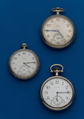 Timepieces:Pocket (post 1900), Three - Elgin, 12 & 16 Size Pocket Watches. ... (Total: 3Items)