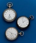 Timepieces:Pocket (post 1900), Three - Elgin's Parts Pocket Watches. ... (Total: 3 Items)