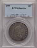 Early Half Dollars, 1795 50C --Damage--Genuine PCGS. This PCGS number ending in 98suggests Damage as the reason, or perhaps one of the reasons,...