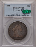 Early Half Dollars, 1801 50C O-101, R.3 VF35 PCGS. CAC. PCGS Population (1/2).(#39267)...