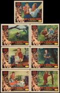 "Movie Posters:Science Fiction, Day the World Ended (American Releasing Corp., 1956). Lobby Cards(7) (11"" X 14""). Science Fiction.. ... (Total: 7 Items)"