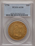 Early Eagles: , 1796 $10 AU50 PCGS. PCGS Population (11/44). NGC Census: (5/60).Mintage: 4,146. Numismedia Wsl. Price for problem free NGC...