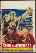 "Movie Posters:War, Edge of Darkness (Warner Brothers, Late-1940s). First Post-WarBelgian (14.5"" X 21""). War.. ..."