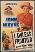 "Movie Posters:Western, The Lawless Frontier (Lone Star, R-1940s). Stock One Sheet (27"" X 40.75""). Western.. ..."