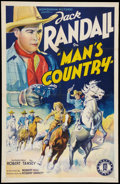"Movie Posters:Western, Man's Country (Monogram, 1938). One Sheet (27"" X 41""). Western.. ..."