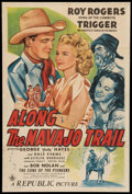 "Movie Posters:Western, Along the Navajo Trail (Republic, 1945). One Sheet (27"" X 41""). Western.. ..."