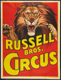 """Movie Posters:Miscellaneous, Circus Poster (Russell Brothers, 1938). Poster (40.75"""" X 54""""). Miscellaneous.. ..."""