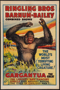 """Circus Poster (Ringling Bros and Barnum & Bailey, Late 1930s). Poster (28.25"""" X 42""""). Miscellaneous..."""